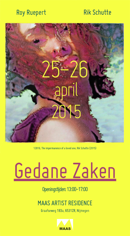 Rik Schutte Roy Ruepert Maas Artist Residence Gedane Zaken Flyer 2015
